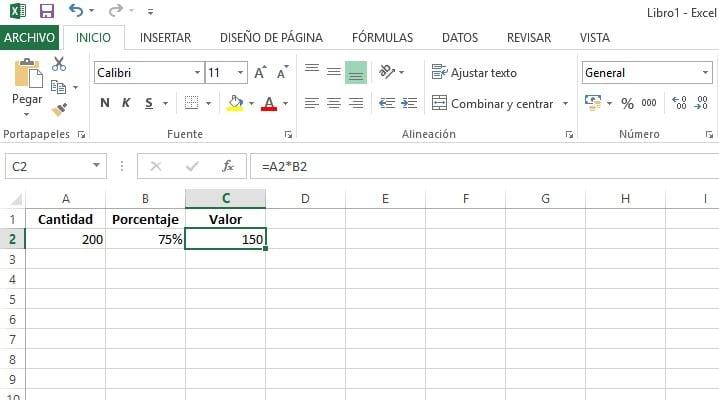 calcular porcentajes en excel