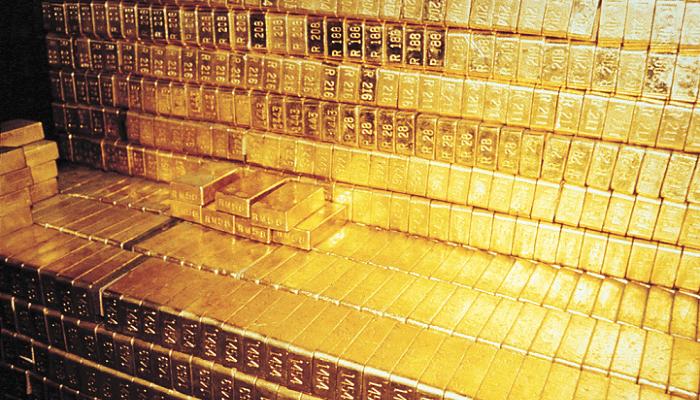 reservas de oro