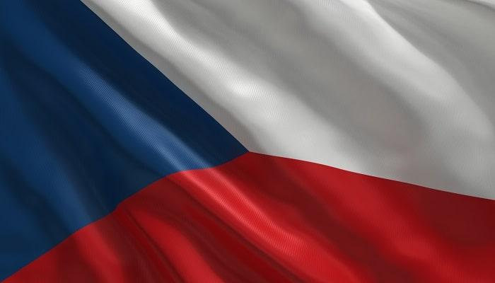 la bandera azul, blanca y roja de la república checa