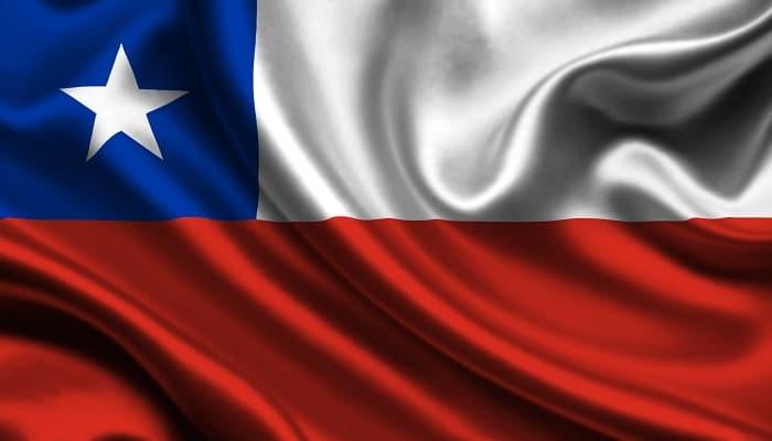 bandera azul, blanca y roja de chile