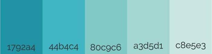 Descubre los colores que mejor combinan con el azul - Gamas de colores azules ...