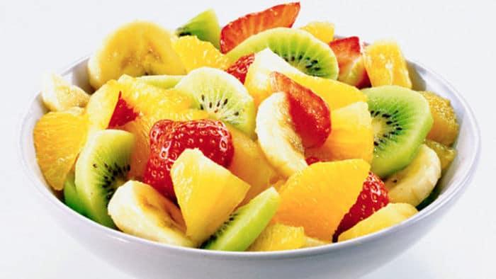 ensalada de fruta para la dieta de la fruta