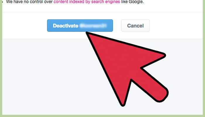 pasos para eliminar su cuenta de twitter