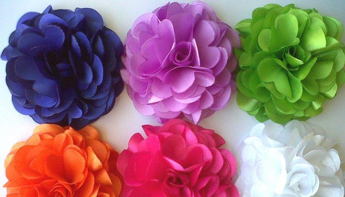 3 formas para hacer flores de tela manualidades desde tu for Manualidades con tela paso a paso