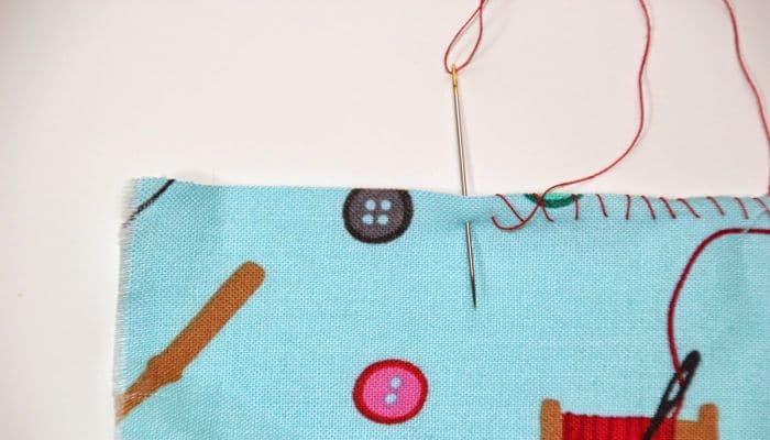 pasos para coser a mano