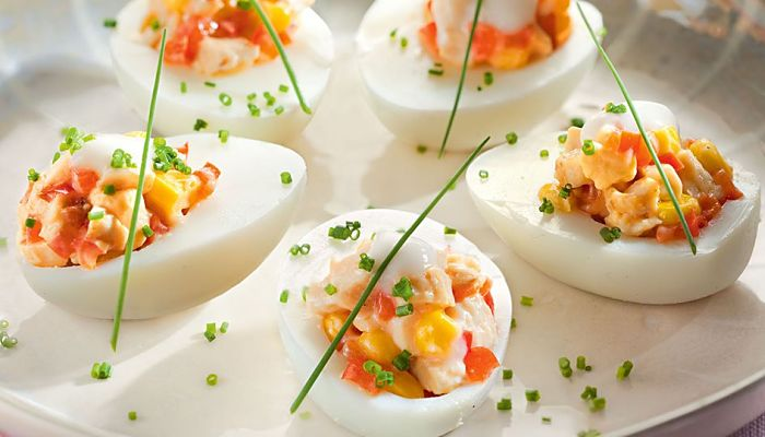 como hacer los huevos rellenos