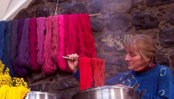 Lavado del hilo en la elaboración alfombras