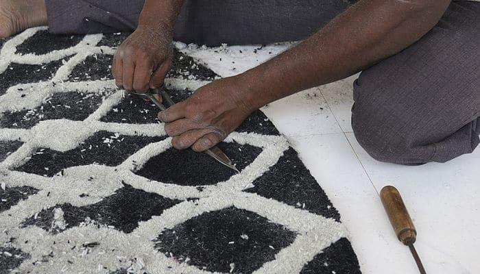 Mano-tufting en la elaboración de alfombras