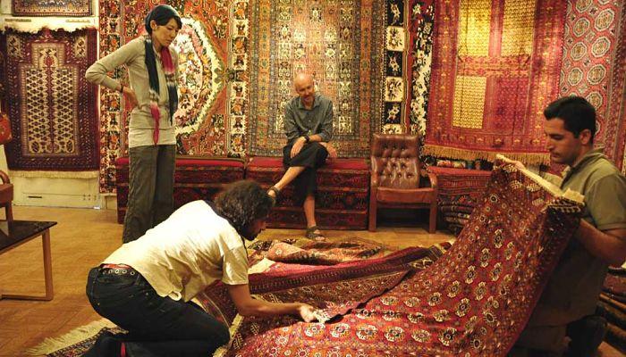 Proceso de elaboraci n como se hacen las alfombras hechas for Alfombras nudos hechas mano
