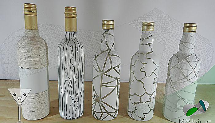 Botellas de cristal con efectos degradados