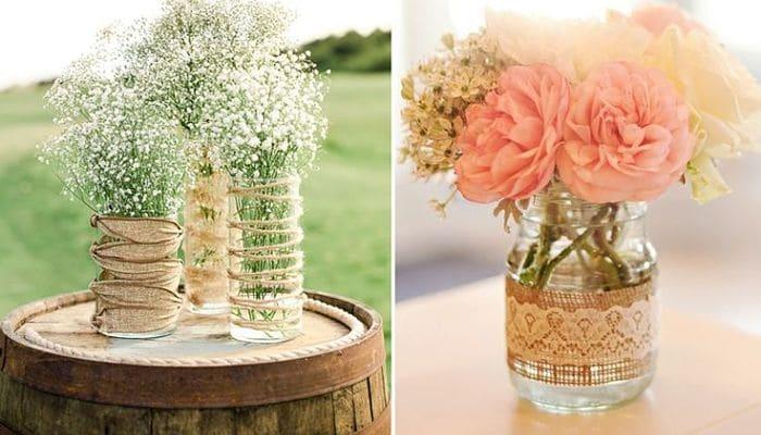 tarros de florero de cristal decorativos - Botes De Cristal Decorados
