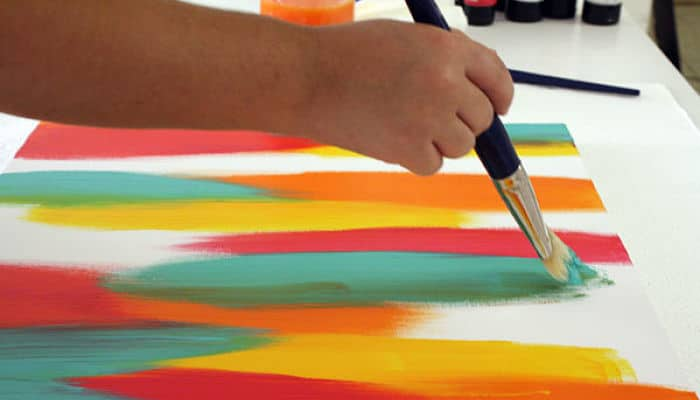 Como pintar un cuadro abstracto aprende a ser todo un artista - Como pintar cuadros faciles ...