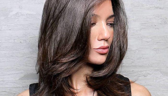corte de pelo largo de la pelusa por capa