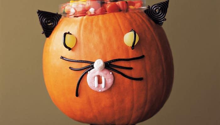 Manualidades de Contenedor de caramelos de gato