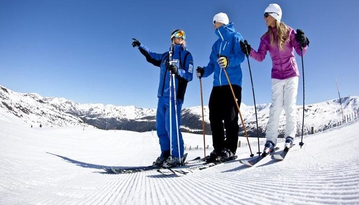 pasos para aprender a esquiar