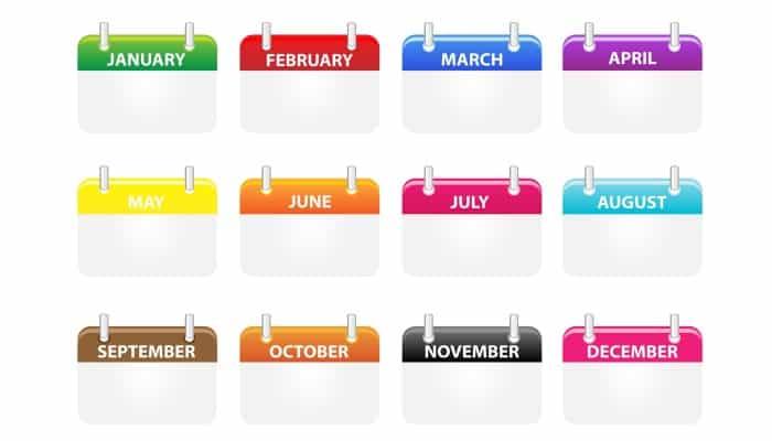 calendario casero