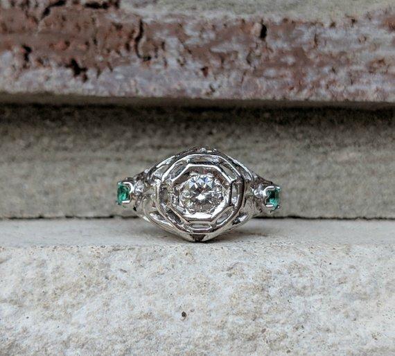 anillos de compromiso antiguos